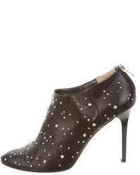 Jimmy Choo Leather Studded Booties