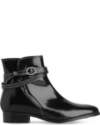 LK Bennett Ava Studded Leather Ankle Boots