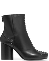 Maison Margiela Studded Leather Ankle Boots Black