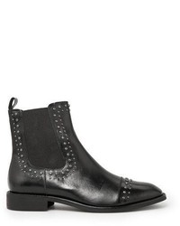 Mango Outlet Studded Leather Ankle Boots