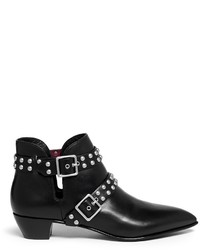 Marc by Marc Jacobs True Rebel Carroll Stud Strap Leather Ankle Boots