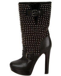 Christian Louboutin Marisa Studded Mid Calf Boots