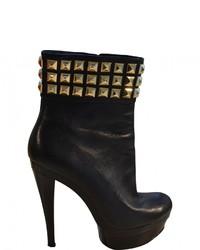 Michael Kors Michl Kors Black Leather Ankle Boots