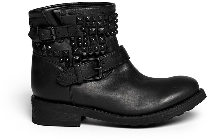 Nobrand Theorem Stud Leather Ankle Boots | Where to buy & how to wear