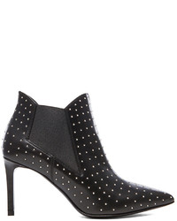 Saint Laurent Paris Studded Pointy Toe Leather Booties