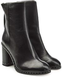 Rag & Bone Leather Ankle Boots With Studded Trim