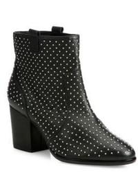 Rebecca Minkoff Sierra Studded Leather Block Heel Booties