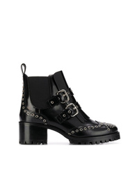 RED Valentino Red Brogue Ankle Boots
