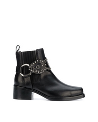 f2698cf42f30 Women s Black Studded Leather Ankle Boots by RED Valentino