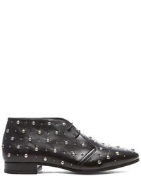 Saint Laurent Lulu Studded Desert Leather Boots