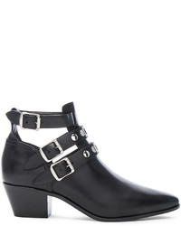 Saint Laurent Rock Rivet Stud Leather Boots