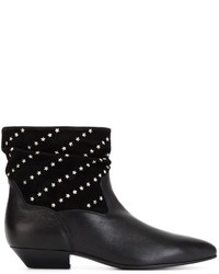 Saint Laurent Star Studded Ankle Boots