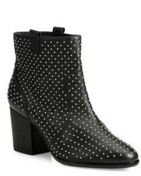 Rebecca Minkoff Sierra Studded Leather Block Heel Booties
