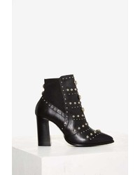 Nasty Gal Skyler Studded Leather Bootie