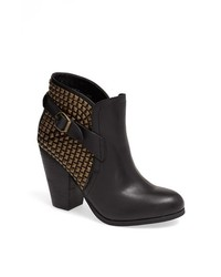 Steve Madden Alani Studded Bootie Black Leather 11 M