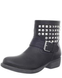 Steve Madden Outtlaww Leather Studded Ankle Boots