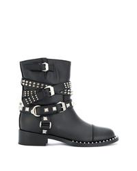 Philipp Plein Strap Studded Boots