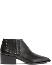 Givenchy Studded Ankle Boots In Black Leather It40