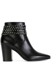 Saint Laurent Studded Ankle Boots