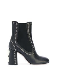 Miu Miu Studded Boots