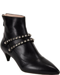 Miu Miu Studded Double Strap Ankle Boots