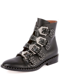 Givenchy Studded Leather Ankle Boot Black