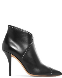 Givenchy Studded Leather Ankle Boots Black