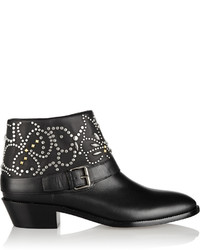 Valentino Studded Leather Ankle Boots