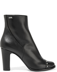 Karl Lagerfeld Studded Leather Ankle Boots