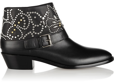 5df98ae648ed Valentino Studded Leather Ankle Boots