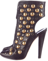 Gucci Studded Peep Toe Booties