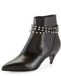 Saint Laurent Studded Strap Ankle Boot