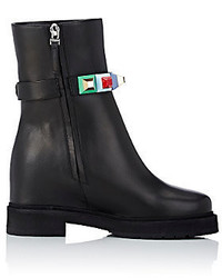Fendi Studded Strap Ankle Boots