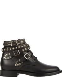 2c778c6fd3b Women's Black Studded Leather Ankle Boots by Saint Laurent | Women's ...