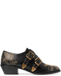 Chloé Susanna Studded Leather Ankle Boots Black