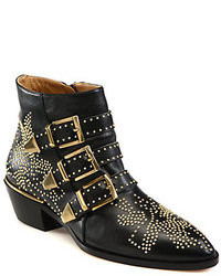 Chloé Suzanna Studded Leather Ankle Boots