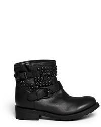 Nobrand Theorem Stud Leather Ankle Boots