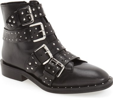 Topshop Amy Studded Buckle Bootie