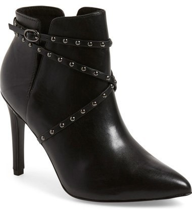 Topshop Humour Studded Pointy Toe Bootie