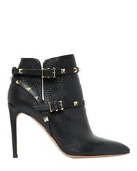 Valentino 100mm Rockstud Tumbled Leather Boots