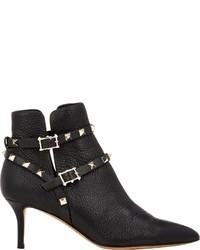 Valentino Rockstud Ankle Booties Black