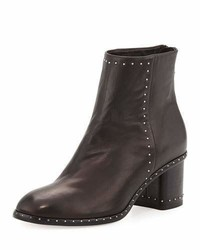Rag & Bone Willow Studded Leather Ankle Boot Black