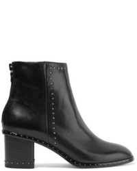 Rag & Bone Willow Studded Leather Ankle Boots Black