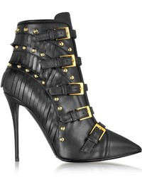 Giuseppe Zanotti Yvette Jeti Black Leather Ankle Boot