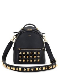Mini studded leather backpack black medium 3692151