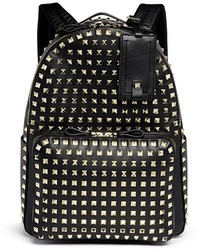 Valentino Rockstud Medium Stud Leather Backpack
