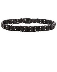 Black Studded Leather Belt