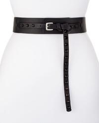 CNC Costume National Costume National Studded Leather Belt Black
