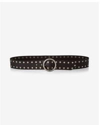 Express Genuine Leather Studded Circle Belt