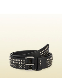 Gucci Studded Leather Belt With Square Buckle